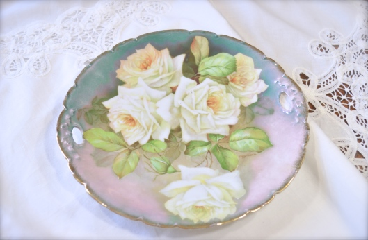 Vintage hand Painted Bavarian China Plate~ My Etsy Shop