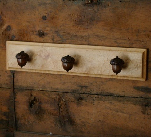 acorn towel rack